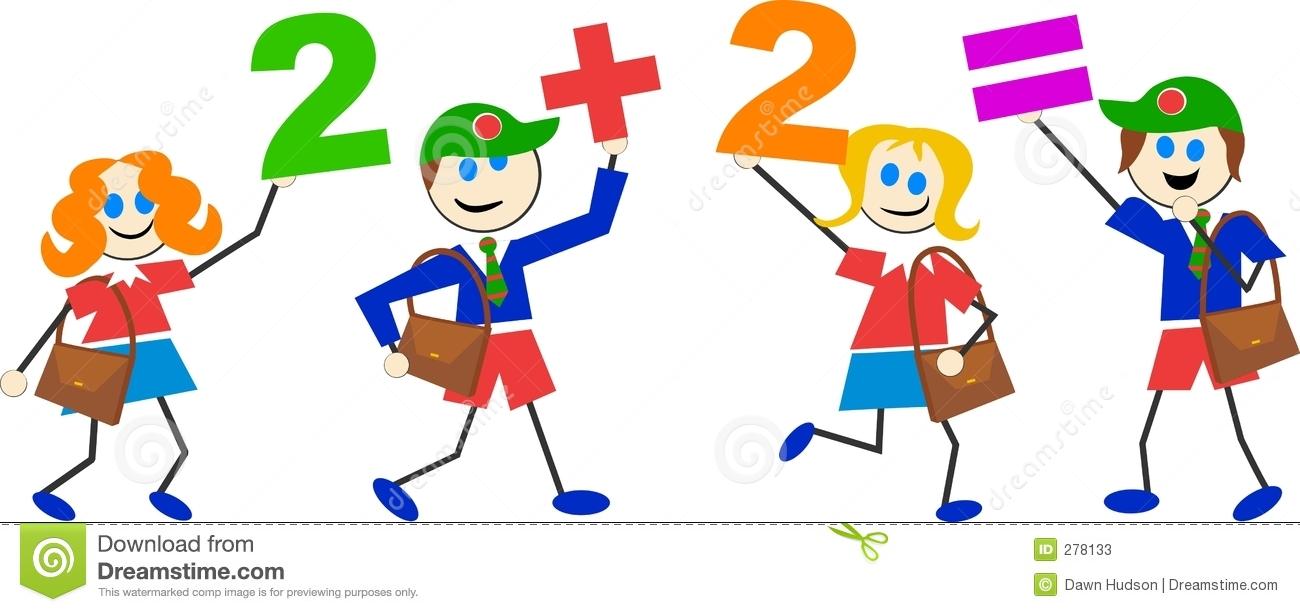 1300x612 Kids Thinking Math Clipart