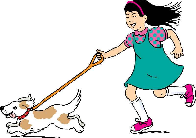 800x562 Clip Art Girl Walking Clipart