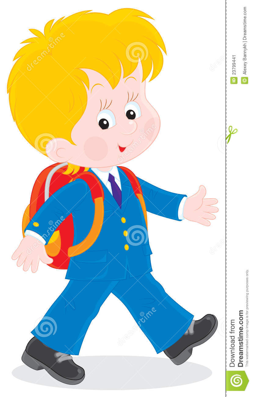 829x1300 Walking School Boy Clipart