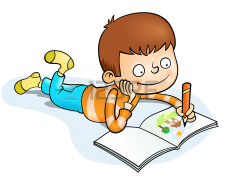 Children Writing Clipart