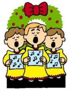230x300 Children Christmas Choir Clip Art