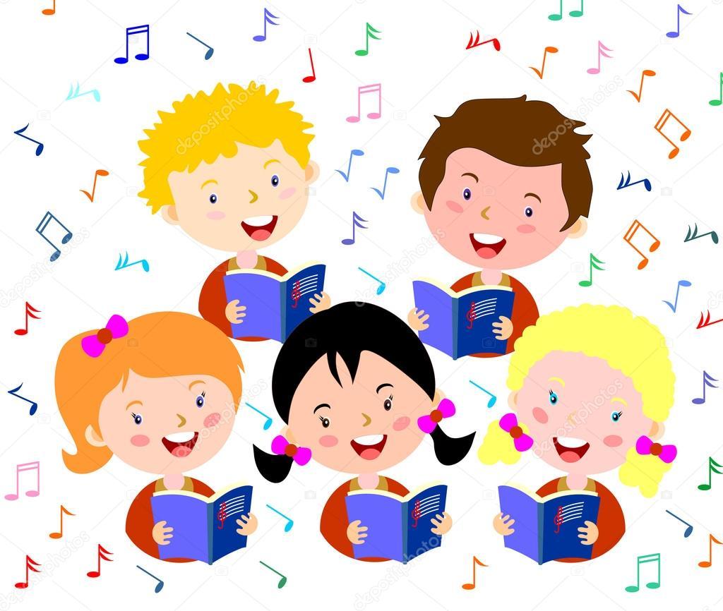 1024x866 Children Choir. Kids Choir Singing. Stock Vector Leonardo255