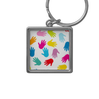 324x324 Handprint Keychains Zazzle