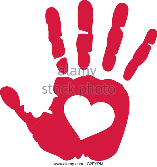 508x540 Handprint With Heart Stock Photos Amp Handprint With Heart Stock