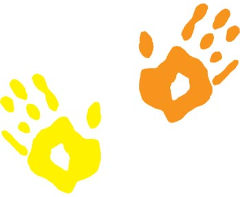 350x288 Handprint Clipart Children'S
