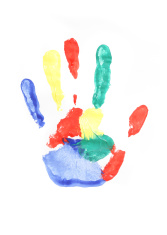 167x235 Multi Colored Handprints Stock Photos