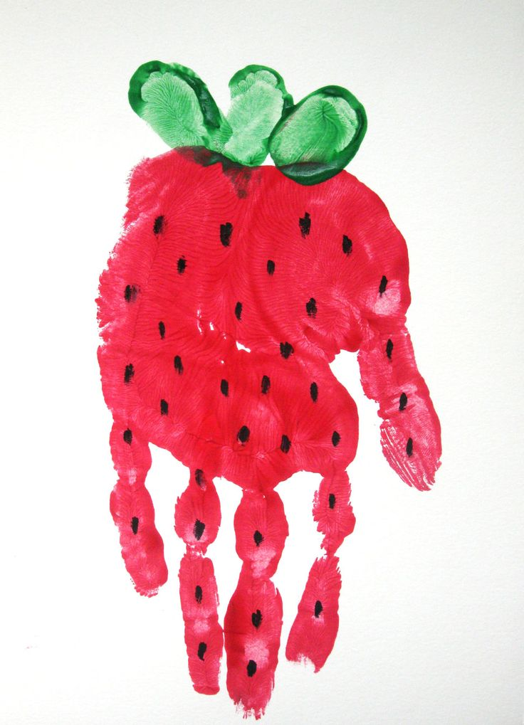 736x1019 Strawberry Handprint Springsummer Craft, Googly