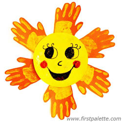 250x250 Yellow Handprint Sun Craft Kids' Crafts