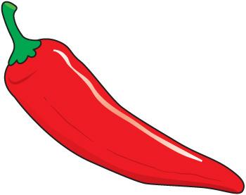350x277 Chili Pepper Border Clipart Image