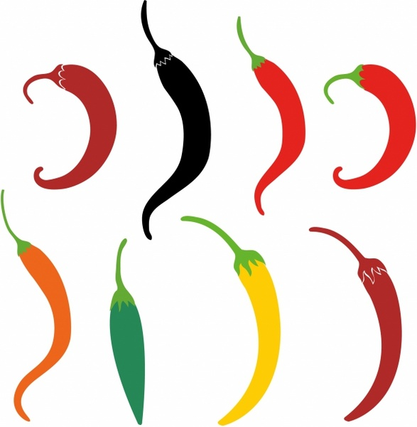 587x600 Graphics For Chili Peppers Vector Graphics