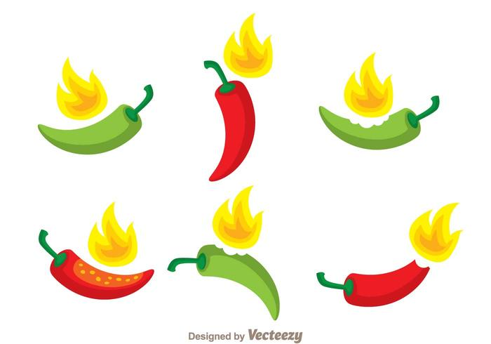 700x490 Hot Chili Pepper Vector Set