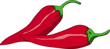 444x200 Chilli Pepper Clipart