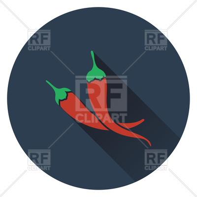 400x400 Flat Design Of Chili Pepper Icon Royalty Free Vector Clip Art