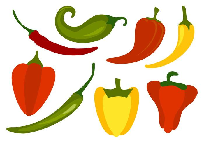 700x490 Free Chili Peppers Vector