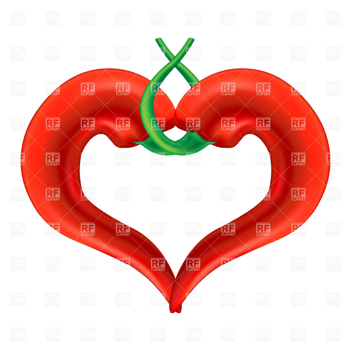 1200x1200 Heart Shaped Chili Pepper Royalty Free Vector Clip Art Image