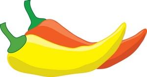 300x158 Yellow Clipart Chili Pepper