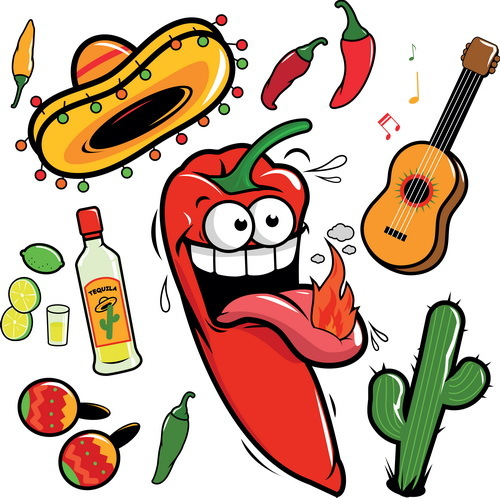 500x498 Cartoon Pepper With Blank Billboard Vector
