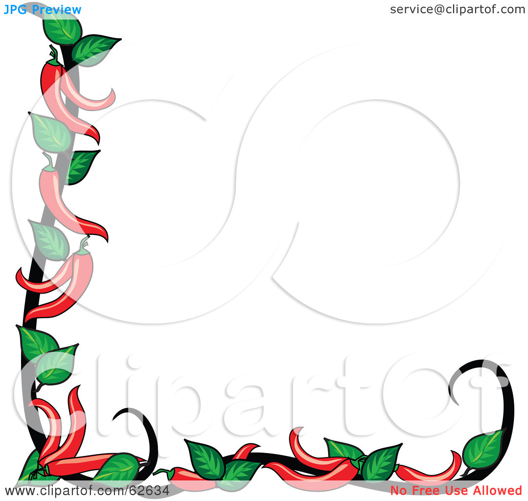 1080x1024 Red Chile Border Clipart