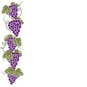 300x300 Grape Vine Border Clipart