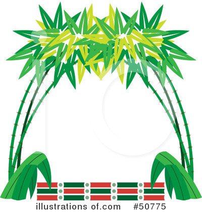 400x420 Bamboo Border Chinese Borders Clipart