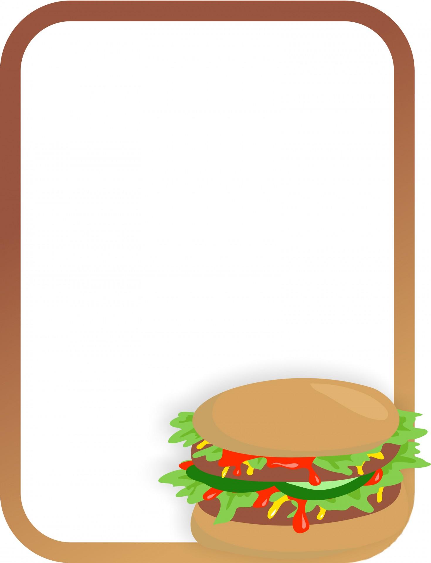 1470x1920 Burger Clipart Border
