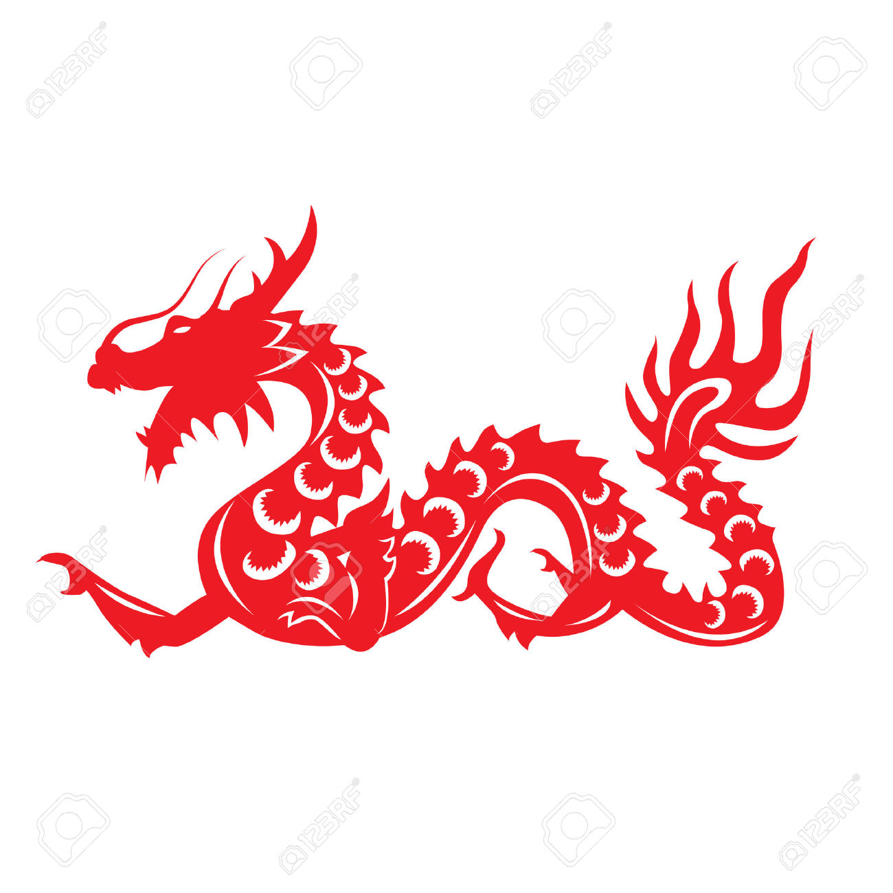 1300x1300 Chinese Dragon Clipart Long