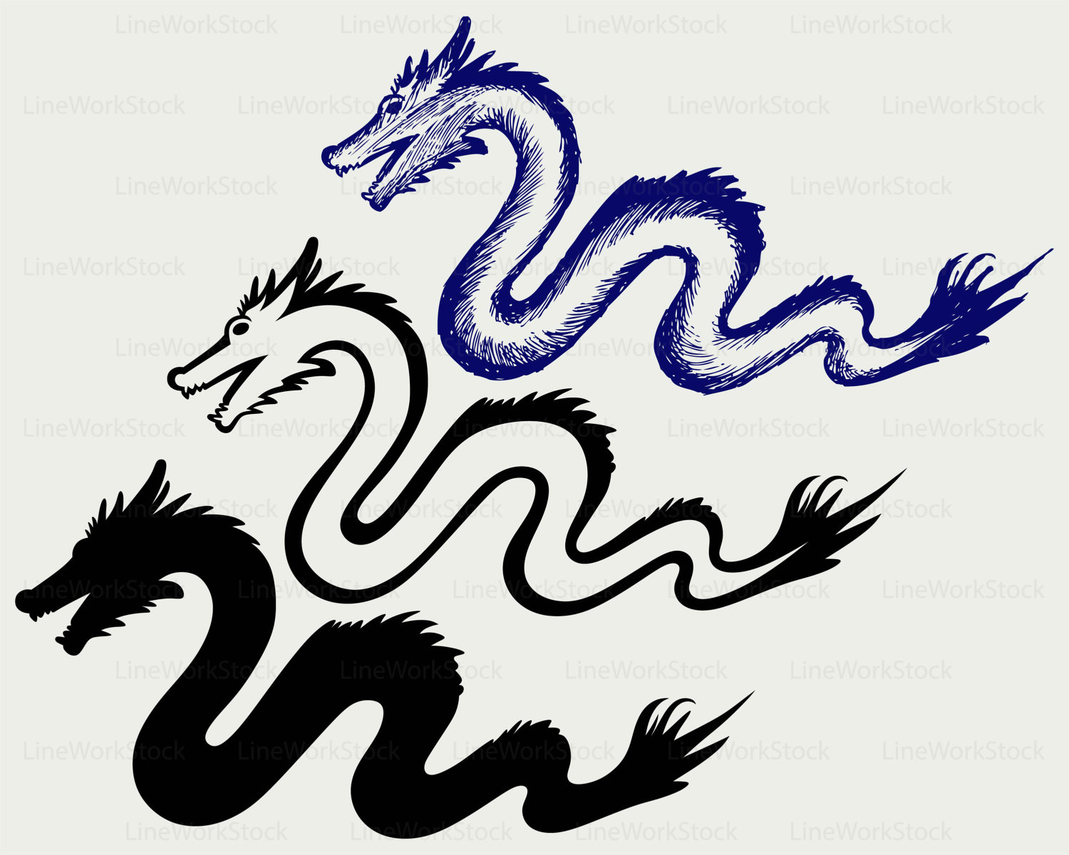 1500x1200 Chinese Dragon Svg,dragon Clipart,snake Svg,dragon Silhouette