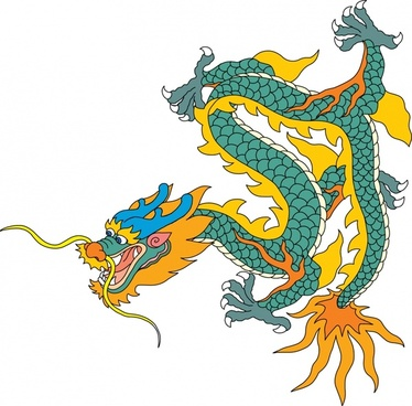 374x368 Chinese Dragon Vector Art Free Vector Download (213,720 Free
