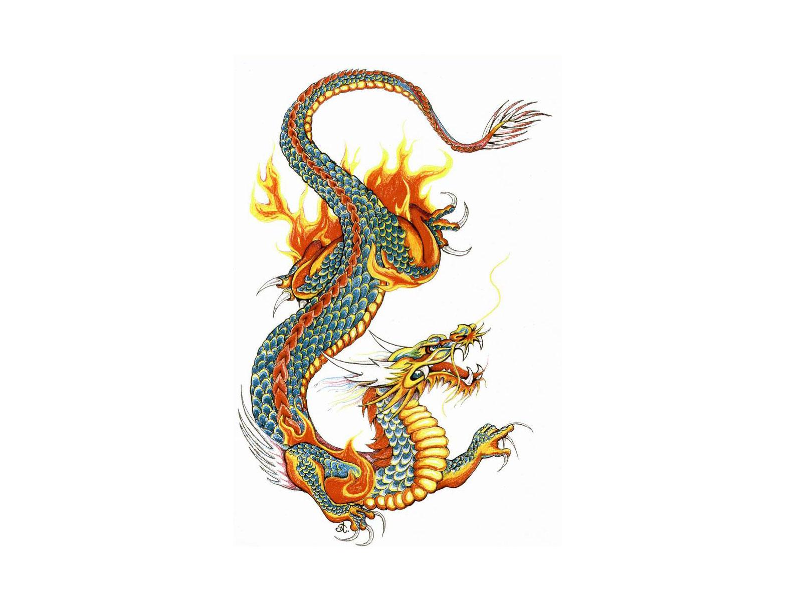 1600x1200 Japanese Dragon Clipart