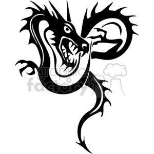 300x300 Royalty Free Chinese Dragons Tattoos 383887 Vector Clip Art Image