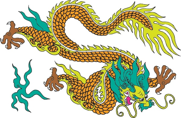 600x391 Vector Ancient Chinese Dragon Vector Free Vector In Adobe