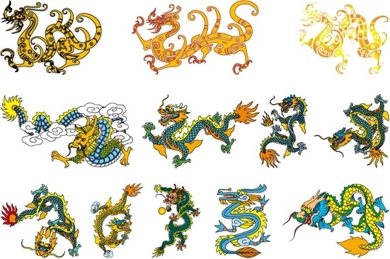 551x366 Chinese Dragon Clipart Classic