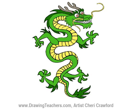 550x455 Chinese Dragon Drawing