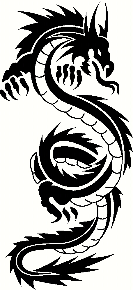 457x991 Chinese Dragon Images Black And White