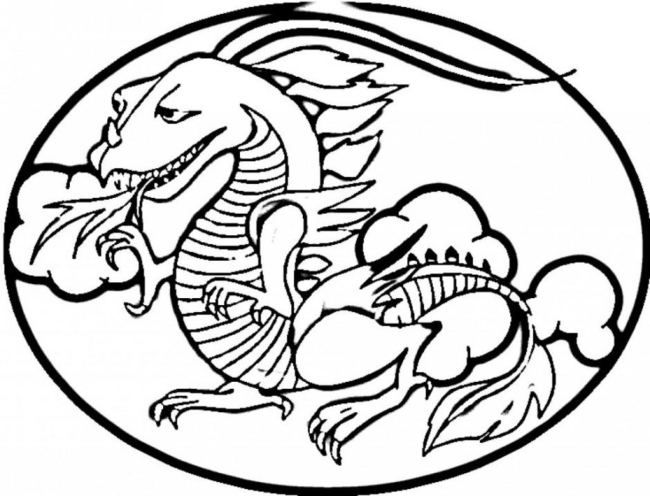 940x717 Chinese Dragon Clipart Outline Drawing