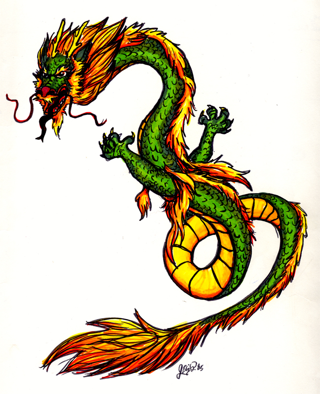 650x800 Chinese Dragon In Color By Davenevanxaviour