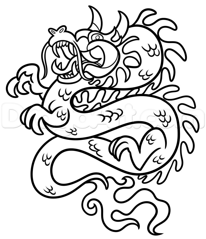 869x1010 6. Chinese New Year Dragon Drawing Lesson