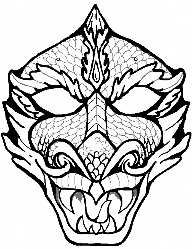 790x1024 Dragon Face Coloring Page Art Dragon Face, Dragon