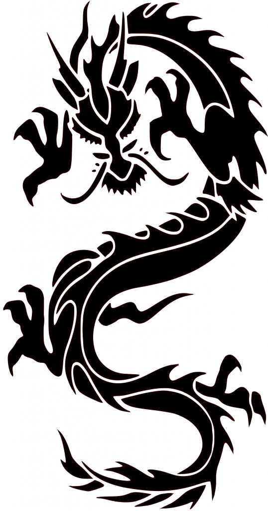 538x1024 Simple Chinese Dragon Drawing Chinese Dragon Wall Painting