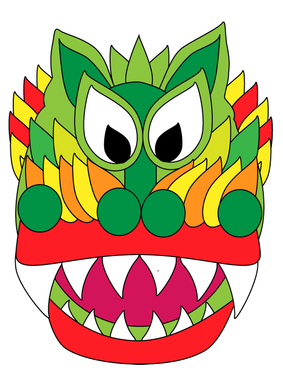 576x792 Chinese New Year Dragon And Lantern Coloring Sheets My Art