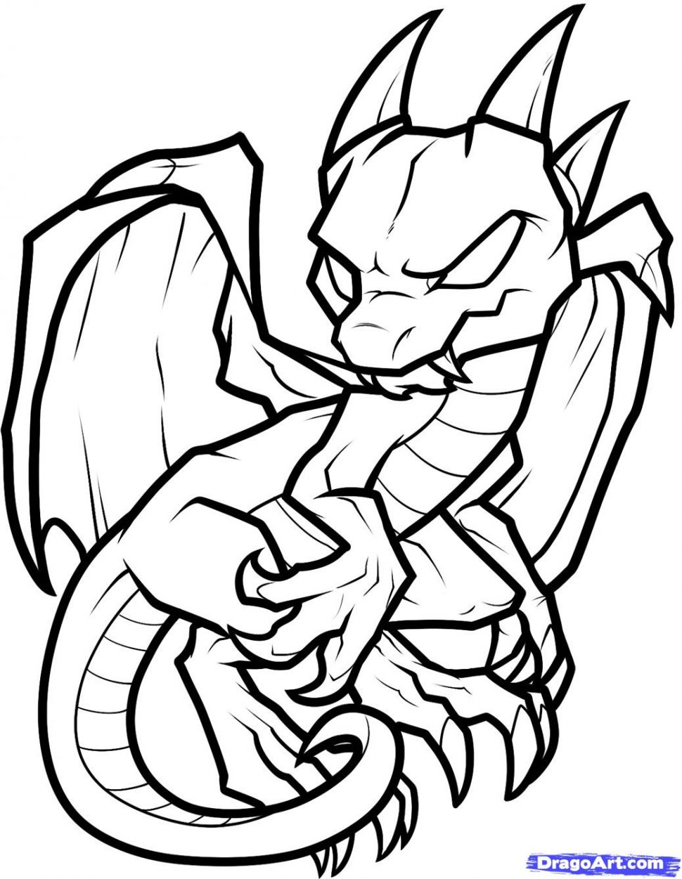 970x1251 Coloring Pages Cool Coloring Pages Draw A Simple Dragon