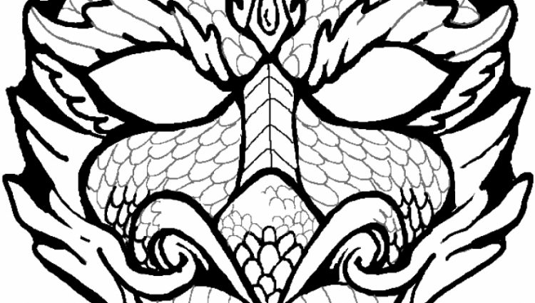 750x425 Dragon Face Coloring Page Art Dragon Face, Dragon