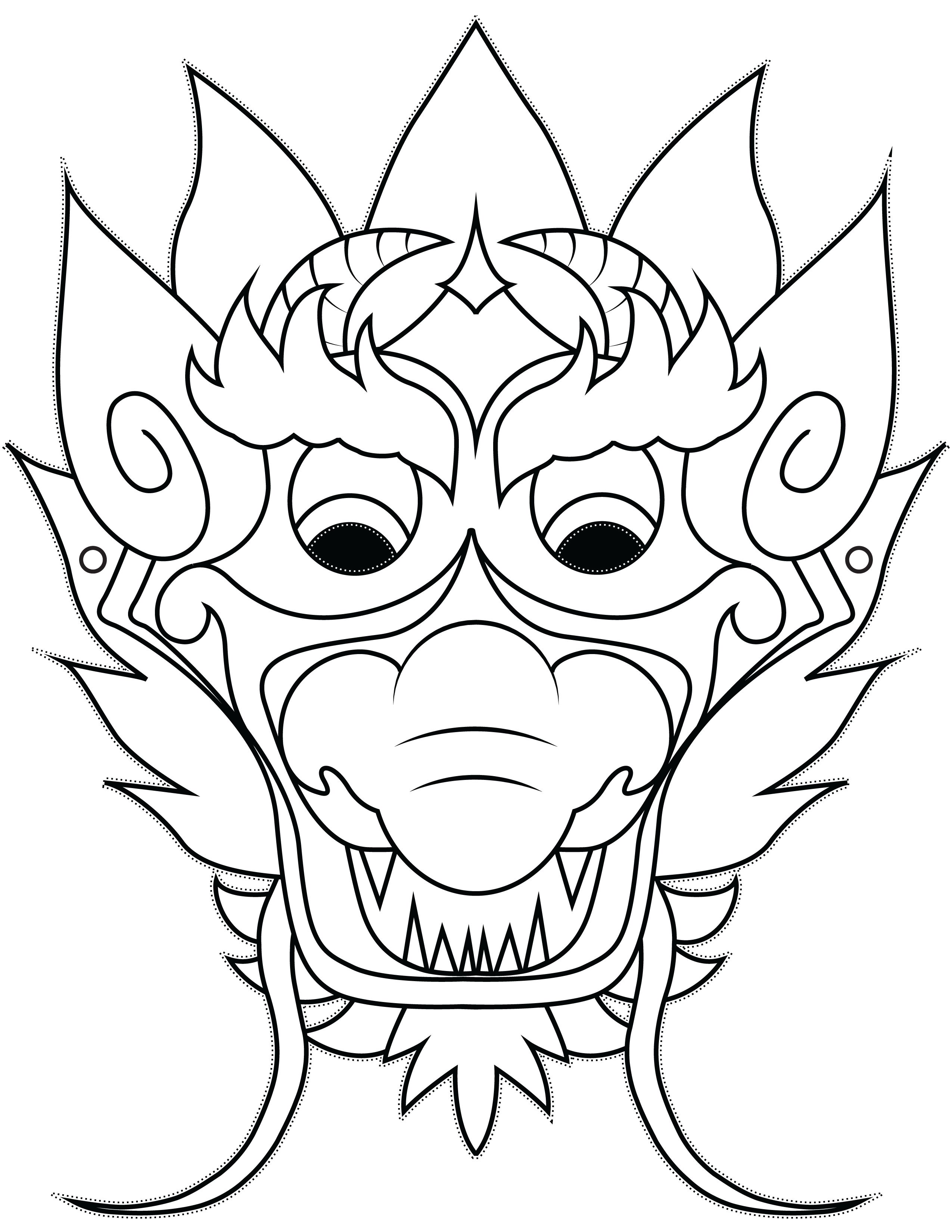2550x3300 Dragon Mask