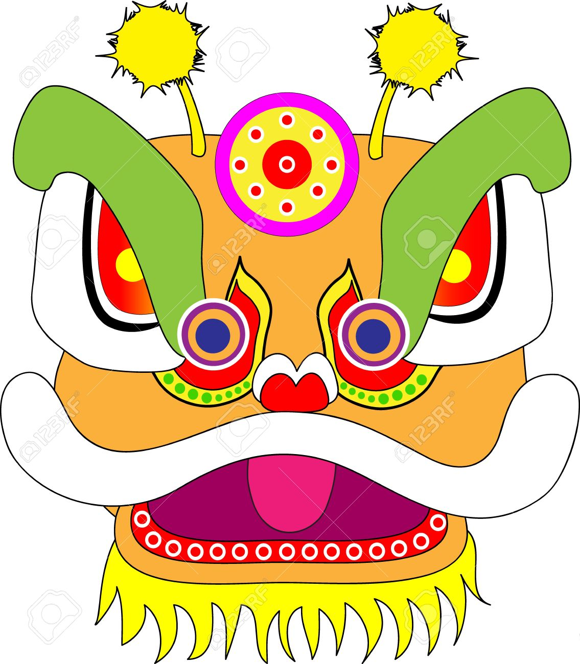 1135x1300 Lion Head Chinese New Year Royalty Free Cliparts, Vectors,