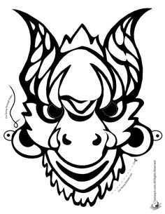 236x305 Mask Clipart Chinese Dragon
