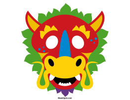 263x203 Printable Chinese Dragon Mask