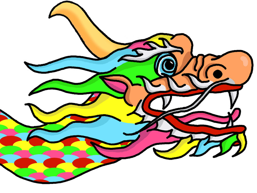 900x678 Cartoon Chinese Dragon Head By Magicbugz