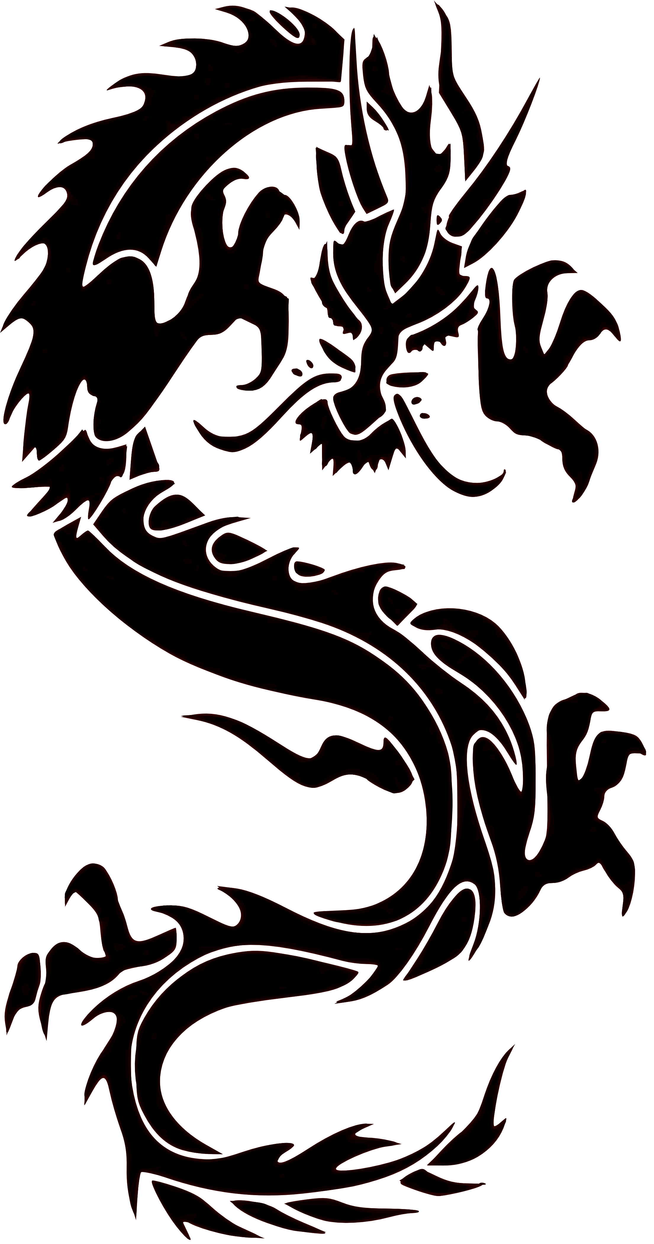 2210x4200 Chinese Dragon Clipart Chinese Painting
