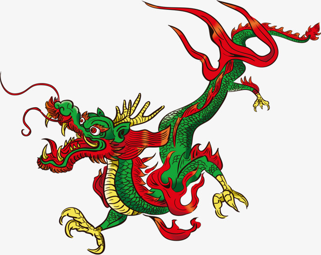 650x516 Vector Color Chinese Dragon, Chinese Dragon, Cartoon Dragon