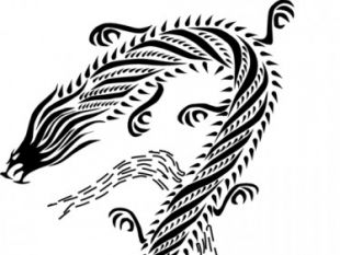 310x233 Black And White Chinese Dragon Free Vectors Ui Download